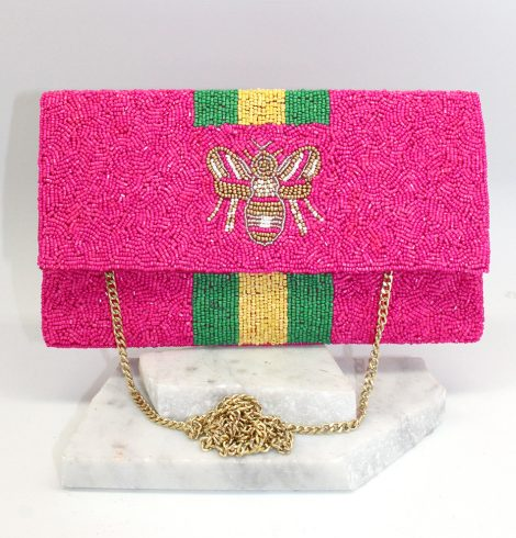 A photo of the Beeutiful Bee Handbag in Pink product