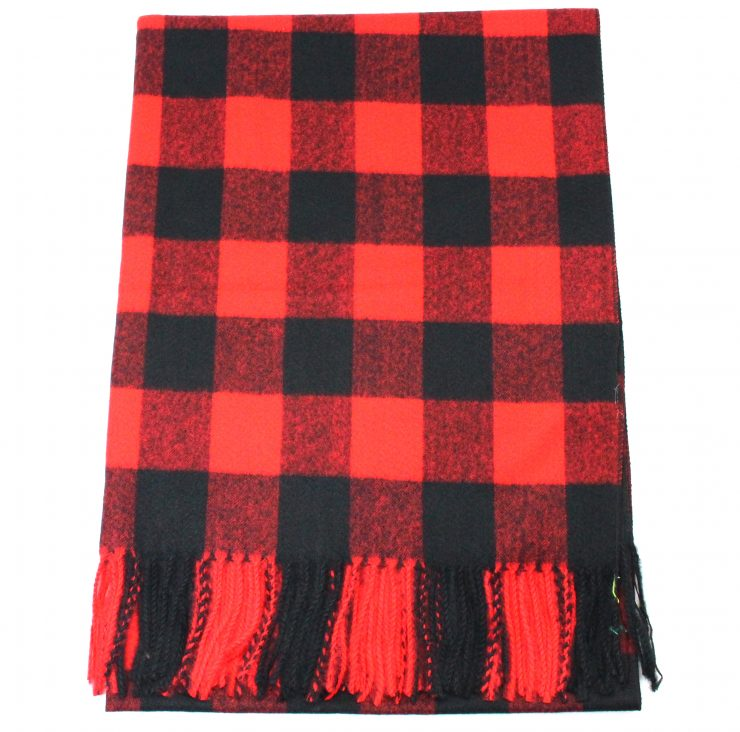 A photo of the Buffalo Check Scarf product