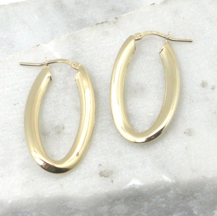 A photo of the Campania Hoop Earrings in Gold product
