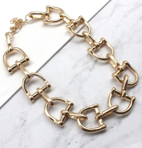 A photo of the Chain Link Necklace in Silver product