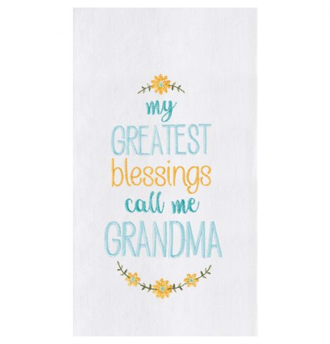 A photo of the Grandma's Blessings Towel product