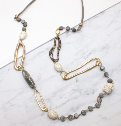 A photo of the Granite Pieces Necklace product