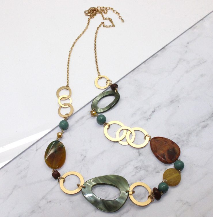 A photo of the Green Beads Necklace product