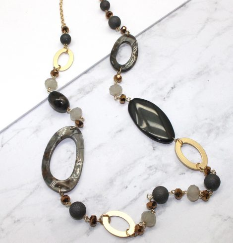 A photo of the Grey Tones Necklace product