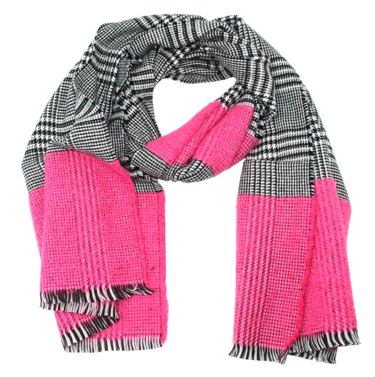 A photo of the Houndstooth Tartan Scarf product