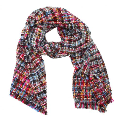 A photo of the Multi Color Tweed Scarf product