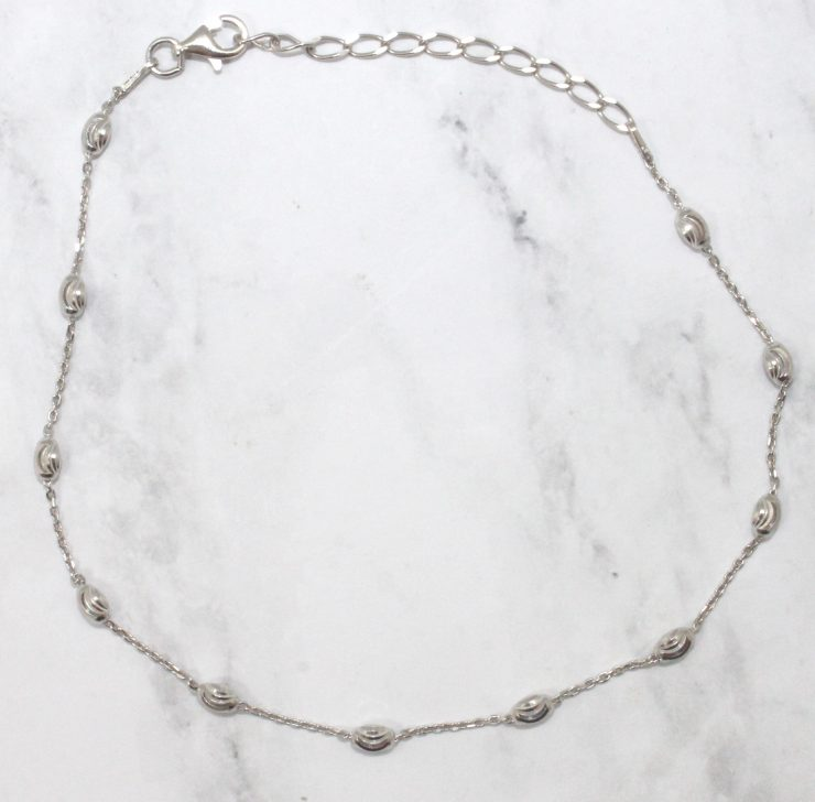 A photo of the Oval Spiral Cut Anklet product
