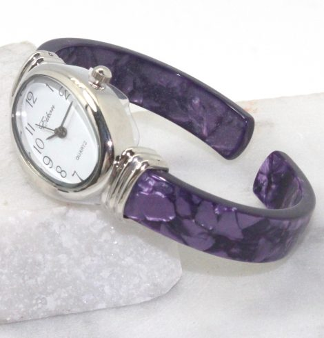A photo of the Purple Oval Face Watch product