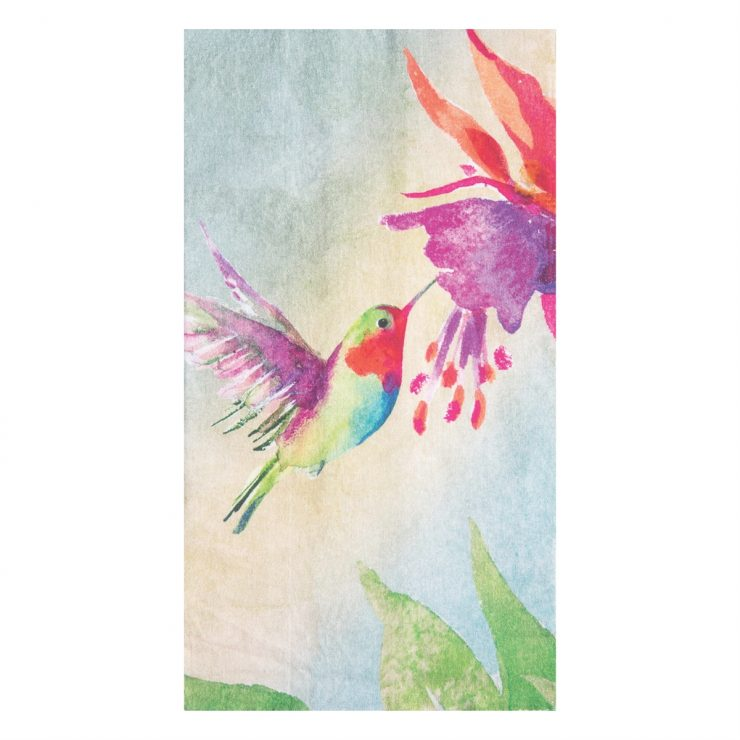 A photo of the Red Hummingbirds Towel product