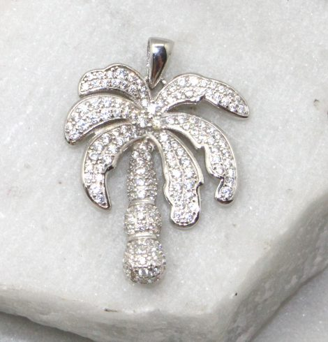 A photo of the Rhinestone Palm Pendant product