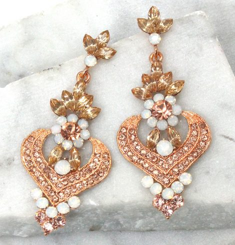 A photo of the Rose Gold Chandelier Earrings product