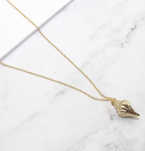A photo of the Shell We Stay Necklace product