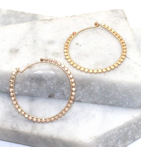 A photo of the Spotted Hoop Earrings product