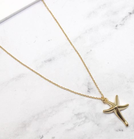 A photo of the Sunny Starfish Chain Necklace product