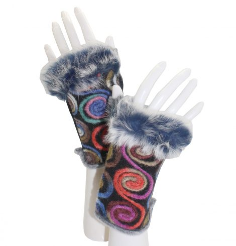 A photo of the Swirls and Curls Cutoff Gloves product