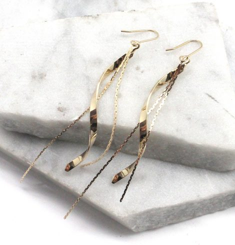 A photo of the Twists and Turns Earrings product