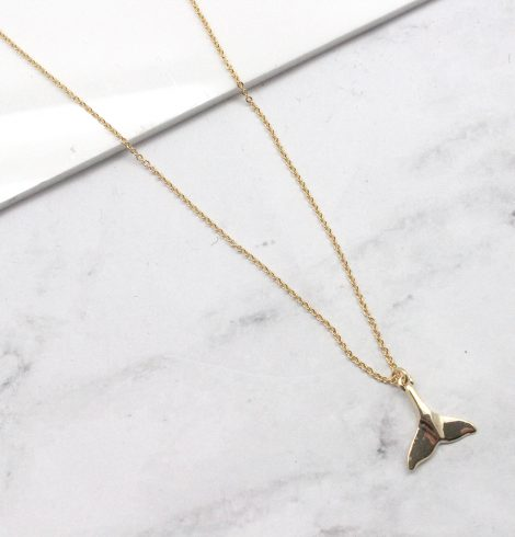 A photo of the Whale Tail Chain Necklace product