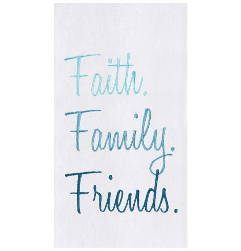 A photo of the Faith Family Friends Towel product