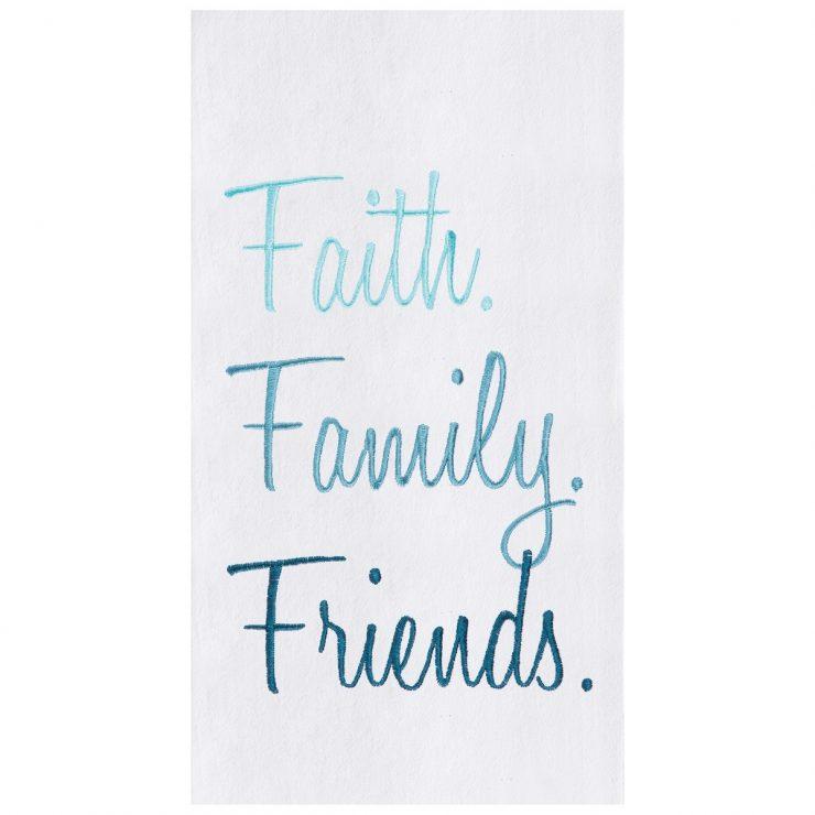 A photo of the Faith Family Friends Towel product