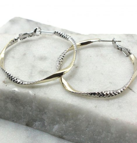 A photo of the Beautiful Day Hoop Earrings product
