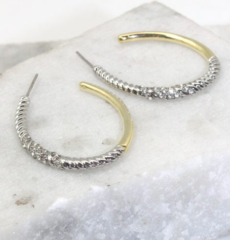 A photo of the Bethie Hoop Earrings product