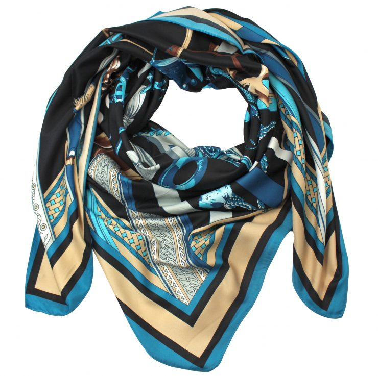 A photo of the Blue Chains Scarf product