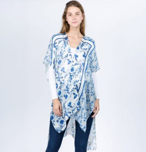 A photo of the Breezy Blue Kimono product