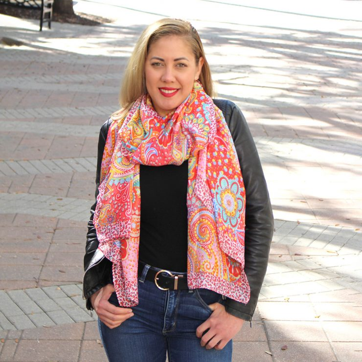 A photo of the Bright and Bold Scarf product