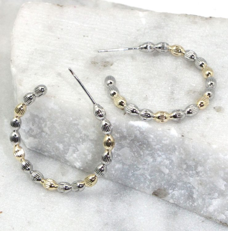 A photo of the Fired Up Hoop Earrings product