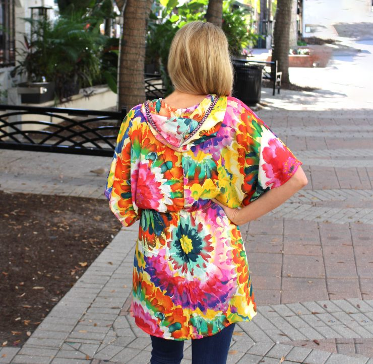 A photo of the Floral Hooded Kimono product