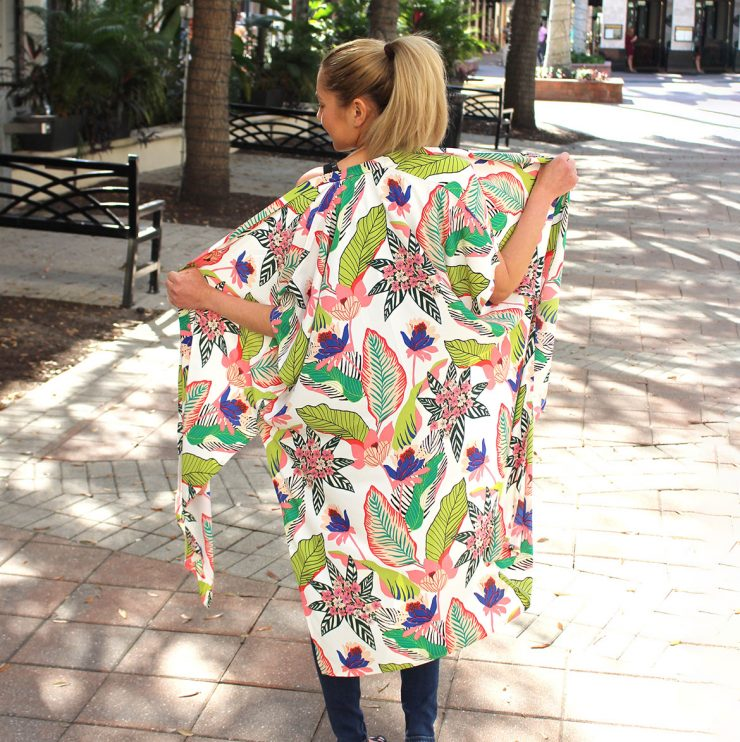 A photo of the Floral Robe Kimono product