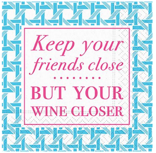 A photo of the Keep Your Wine Closer Napkins product