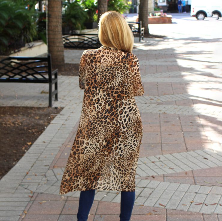 A photo of the Leopard Kimono product