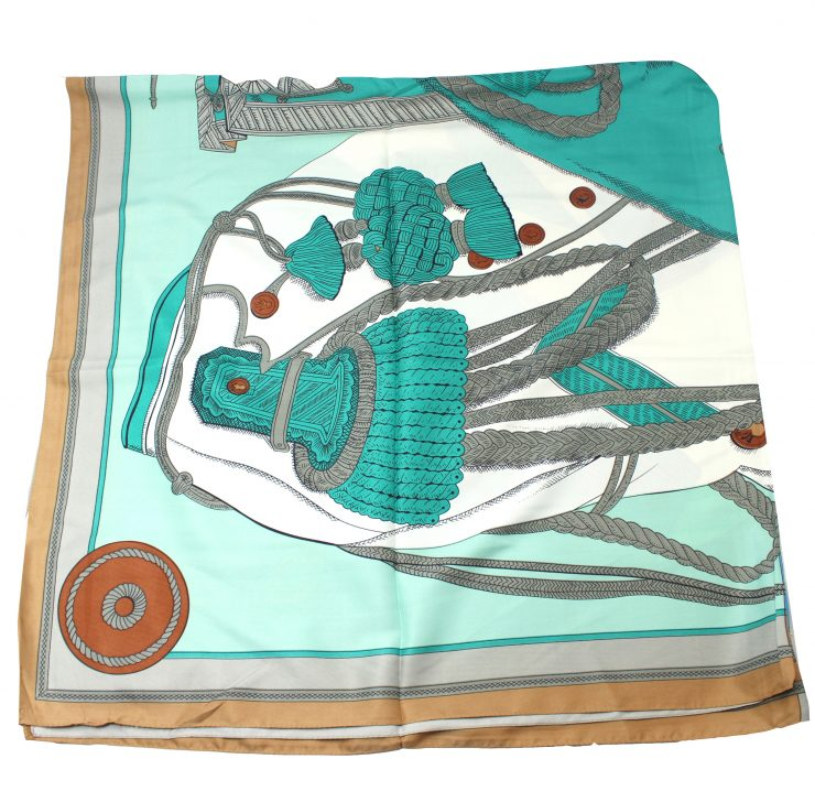 A photo of the Mint and Beige Scarf product