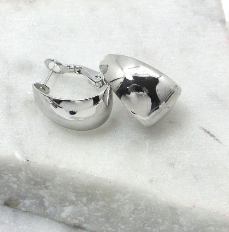 A photo of the Mirrored Hoop Earrings product