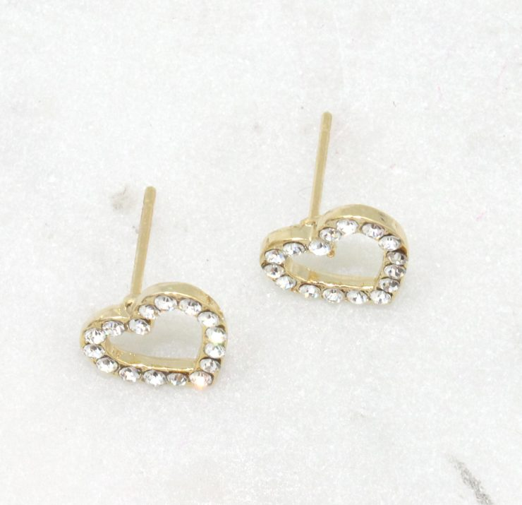A photo of the Open Heart Earrings product