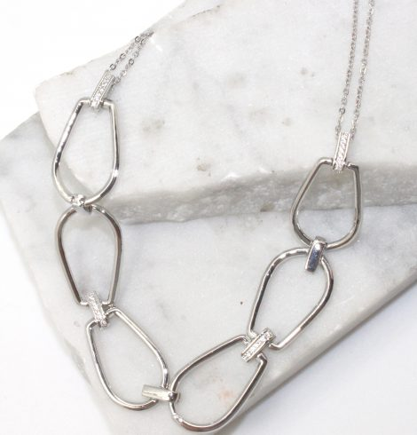 A photo of the Oval Link Statement Necklace product