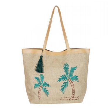 A photo of the Palm Embroidered Tote product