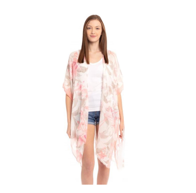 A photo of the Tropical Pastel Kimono product