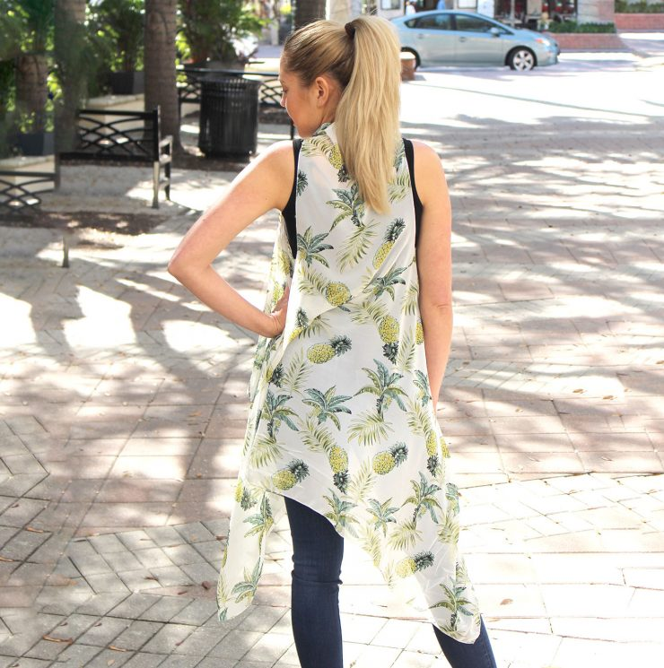 A photo of the Pineapple Vest Kimono product