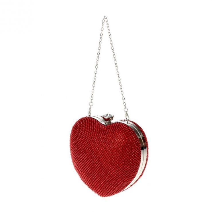 A photo of the Queen of Hearts Rhinestone Purse product