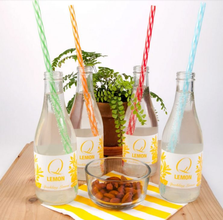 A photo of the Rainbow Reusable Straws product