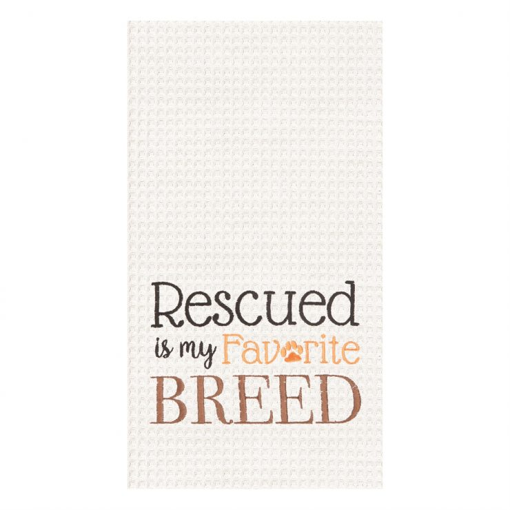 A photo of the Rescued Breed Towel product