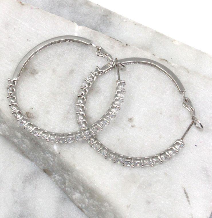 A photo of the Rhinestone Hoop Earrings product