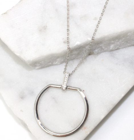 A photo of the Round Link Necklace product
