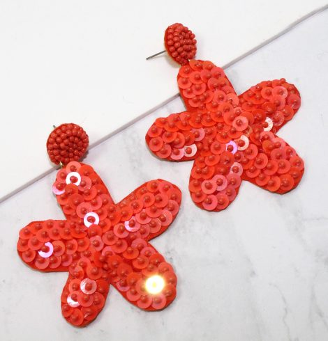 A photo of the Sequin Starfish Earrings product