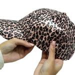 A photo of the Shimmery Leopard Baseball Cap product