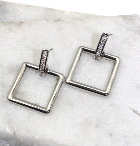 A photo of the Square Link Earrings product