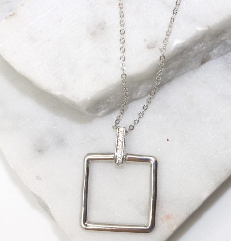 A photo of the Square Link Necklace product