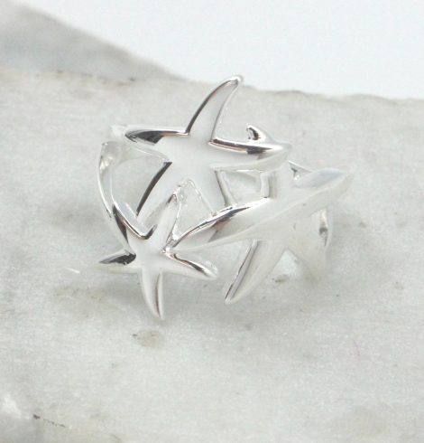 A photo of the Starfish Trio Ring product